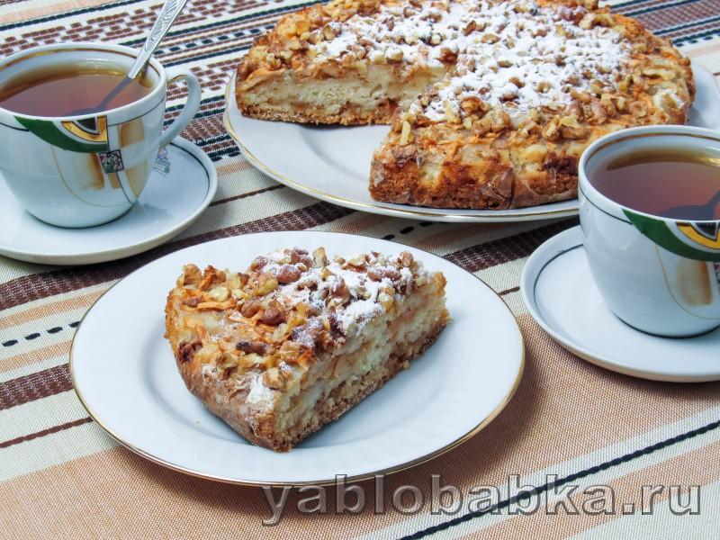 Болгарский яблочный пирог с манкой: фото 10