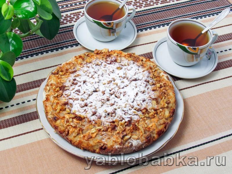 Болгарский яблочный пирог с манкой: фото 9