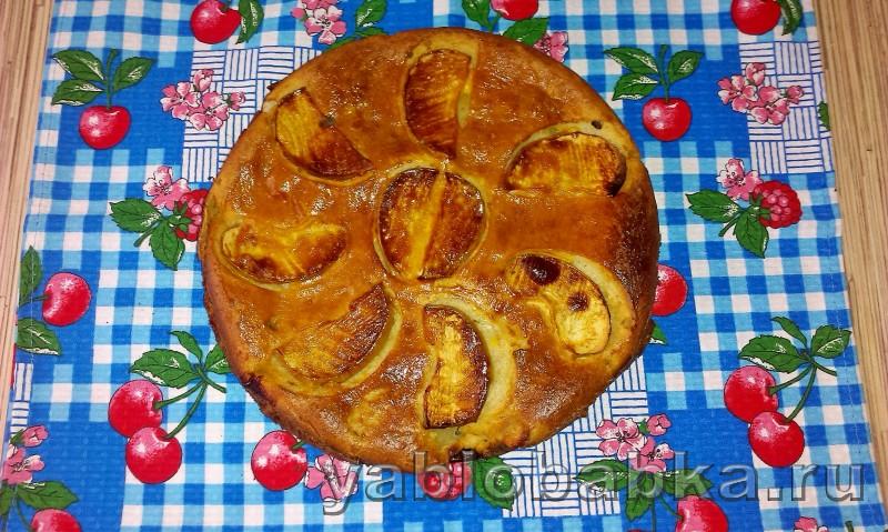 Диетическая шарлотка с яблоками: фото 9
