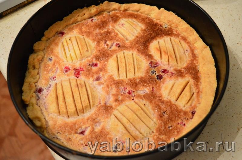 Эльзасский яблочный пирог с клюквой: фото 16