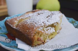 Итальянский яблочный пирог «по-деревенски»