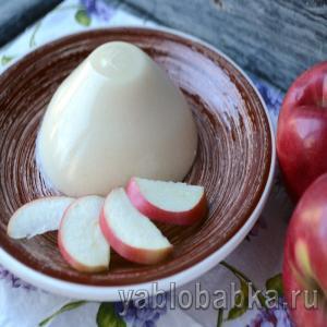Панна котта – рецепт классический с яблоками