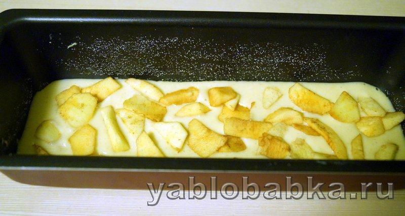 Манник с яблоками на кефире: фото 6