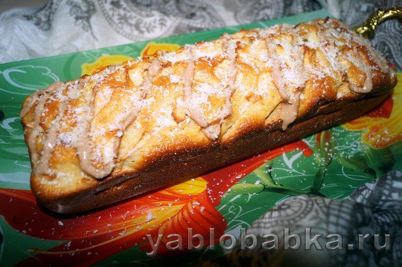 Манник с яблоками на кефире: фото 8