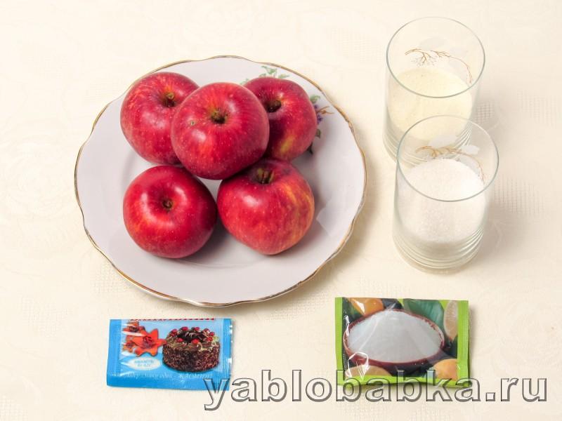 Манка яблоки рецепт с фото