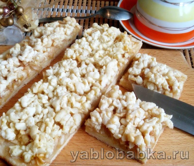 Песочный пирог с тертыми яблоками: фото 7