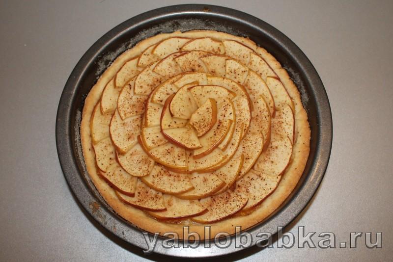 Песочный пирог с яблоком: фото 5