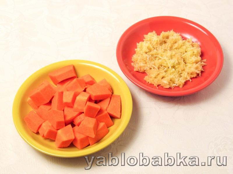 Пирог с творогом из песочного теста с тыквой и яблоком: фото 4