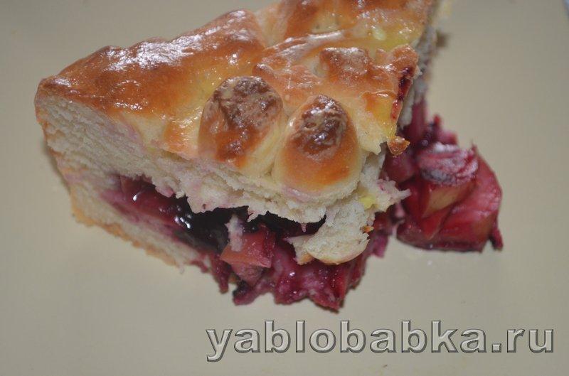 Пирог с яблоками и ягодой из дрожжевого теста: фото 19