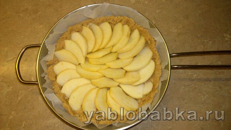 Пирог яблочный со сметанной заливкой: фото 4