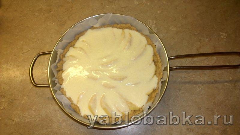 Пирог яблочный со сметанной заливкой: фото 6