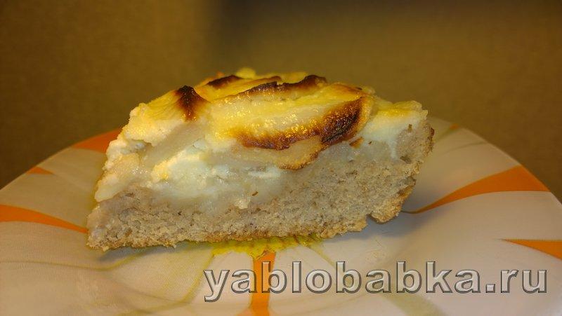 Пирог яблочный со сметанной заливкой: фото 8