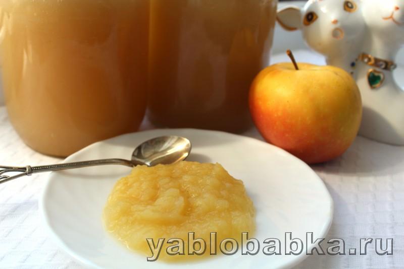 Пюре из яблок на зиму рецепт без сахара для детей