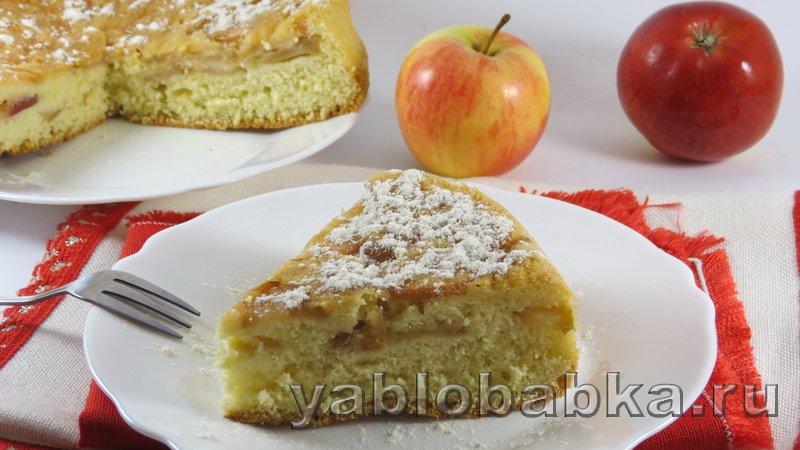 простой рецепт шарлотки от Яблобабки