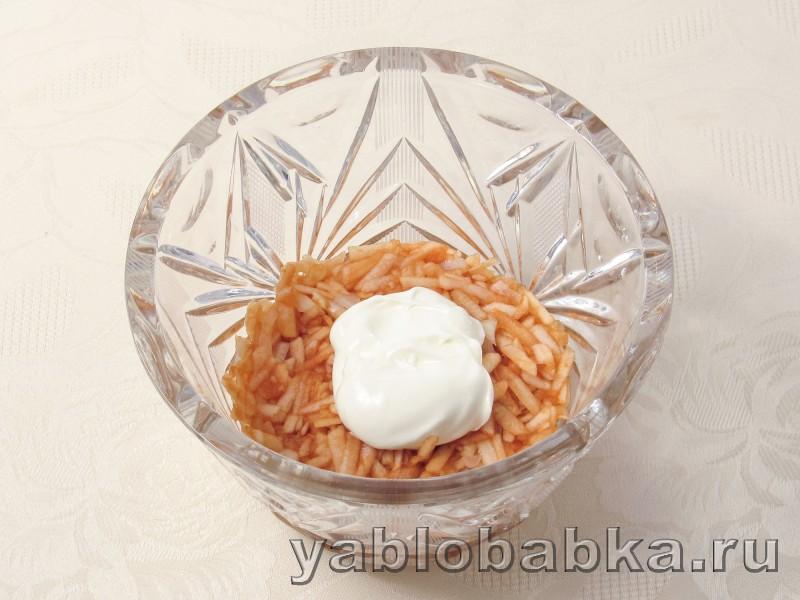 Салат франтсузский с яблоком и морковью без майонеза: фото 4