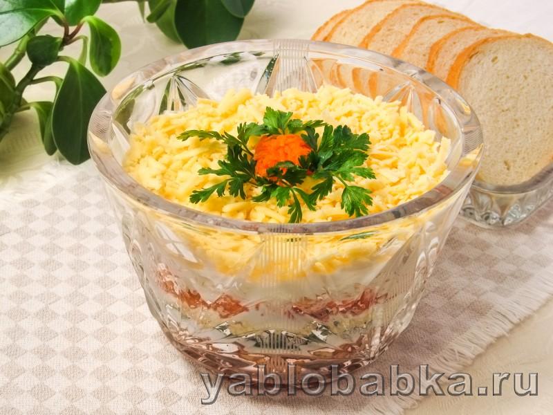 Салат франтсузский с яблоком и морковью без майонеза