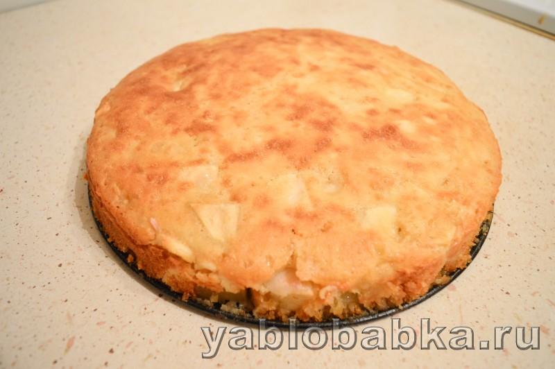 Шарлотка с яблоками на кефире без яиц рецепт пошагово в духовке