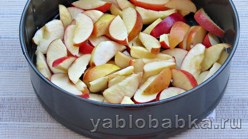 Шарлотка пышная с яблоками в духовке: фото 7