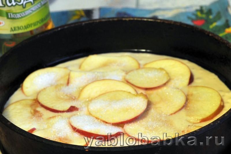 Шарлотка с клюквой и яблоками на кефире: фото 7