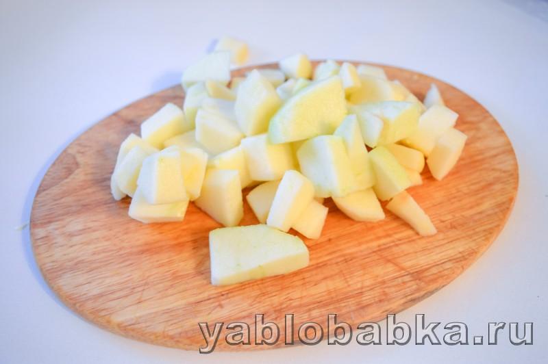 Шарлотка с шоколадом и яблоками: фото 9