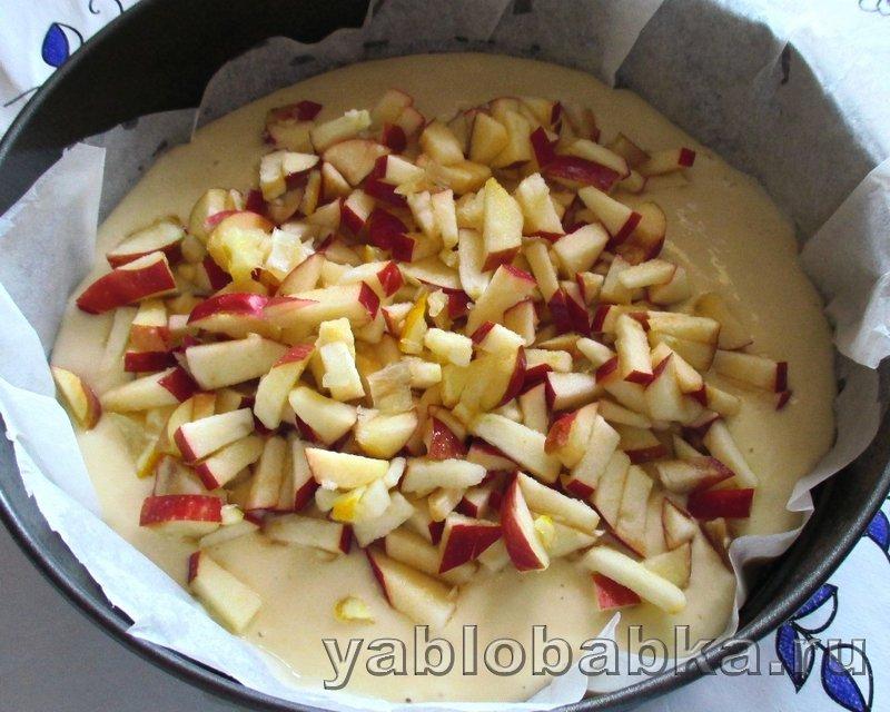 Шарлотка с яблоками и лимоном на кефире: фото 12