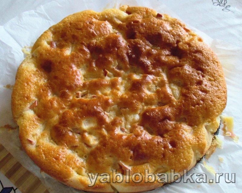 Шарлотка с яблоками и лимоном на кефире: фото 15