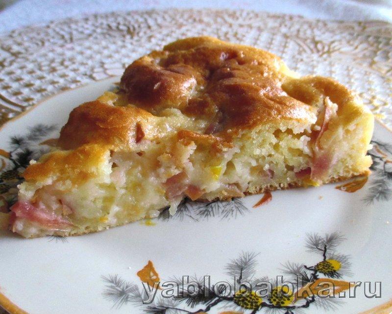 Шарлотка с яблоками и лимоном на кефире: фото 17