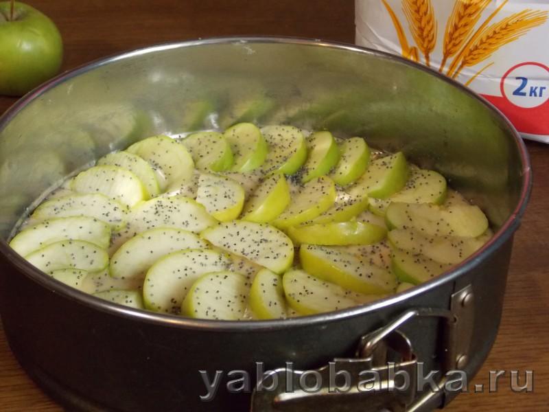 Шарлотка с яблоками и маком: фото 5