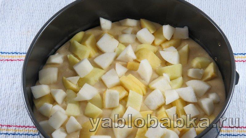 Шарлотка с яблоками на кефире: фото 8