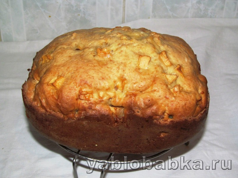 Шарлотка в хлебопечке с замесом теста: фото 7