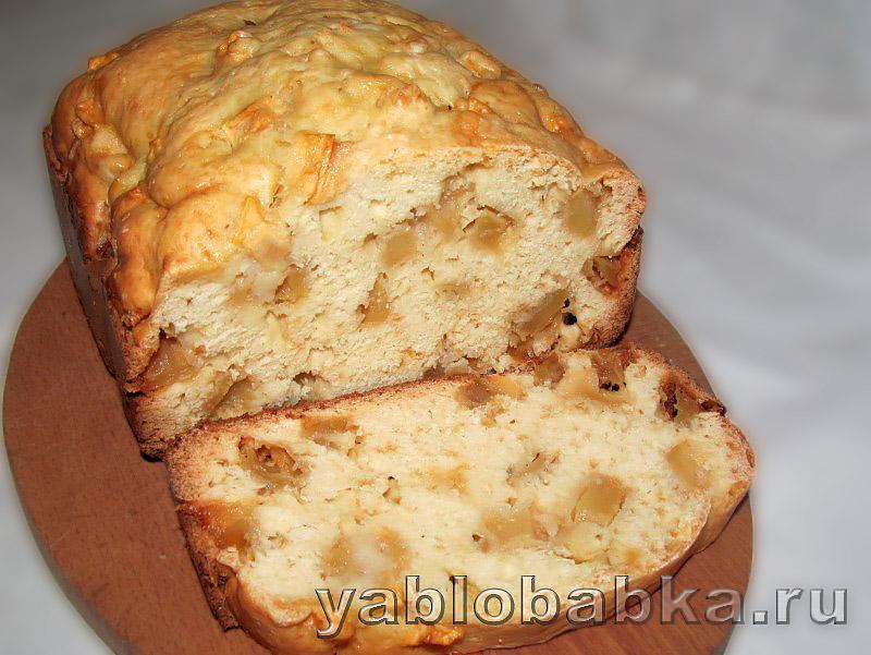 Шарлотка в хлебопечке с замесом теста