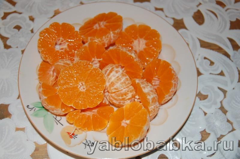 Штрудель из творожного теста с мандаринами: фото 3