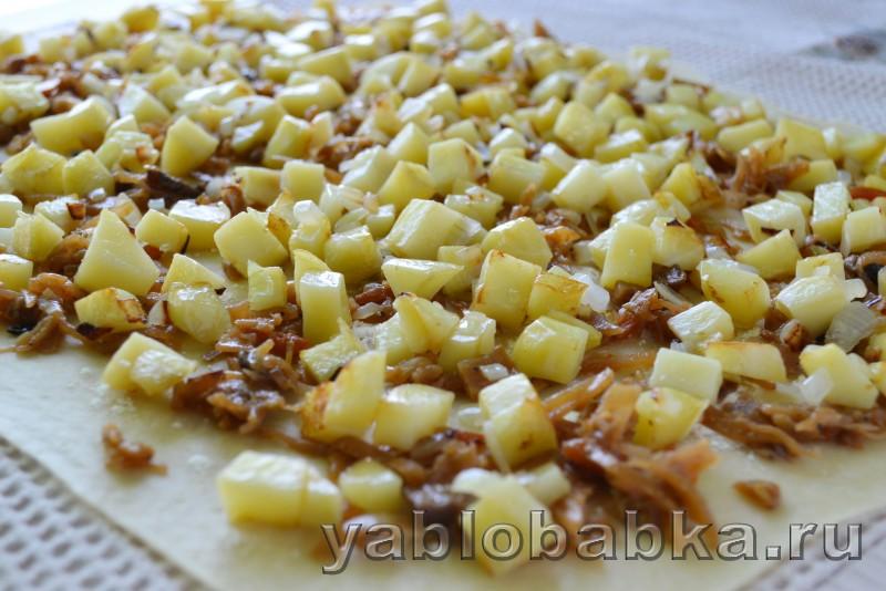 Штрудель с капустой и картошкой: фото 7