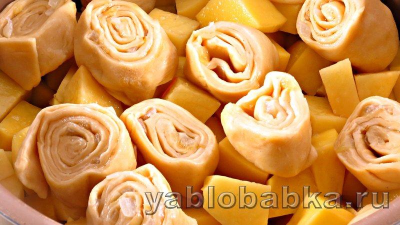 Штрудель с мясом и картошкой: фото 12