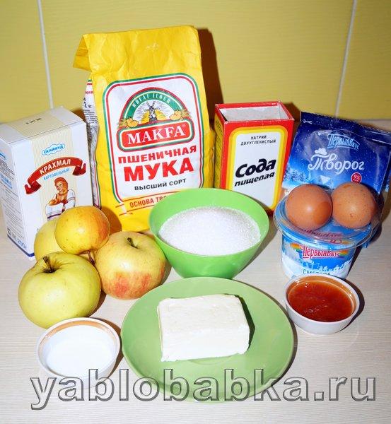 Творожно яблочный пирог: фото 1