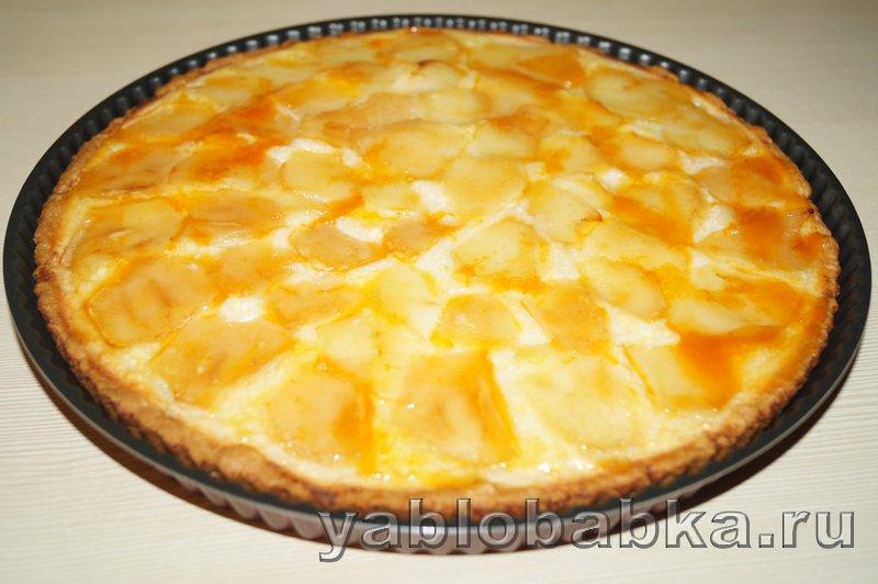 Творожно яблочный пирог: фото 9