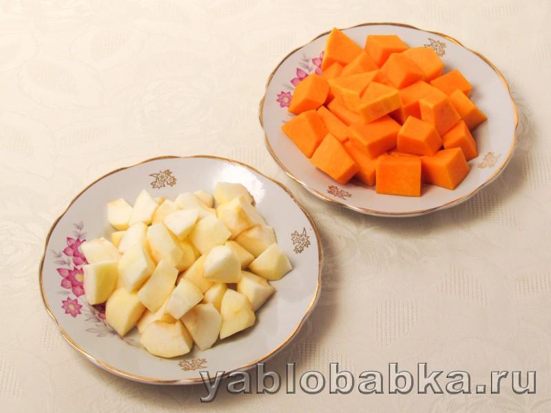 Тыквенный чизкейк рецепт с творогом и яблоками: фото 4