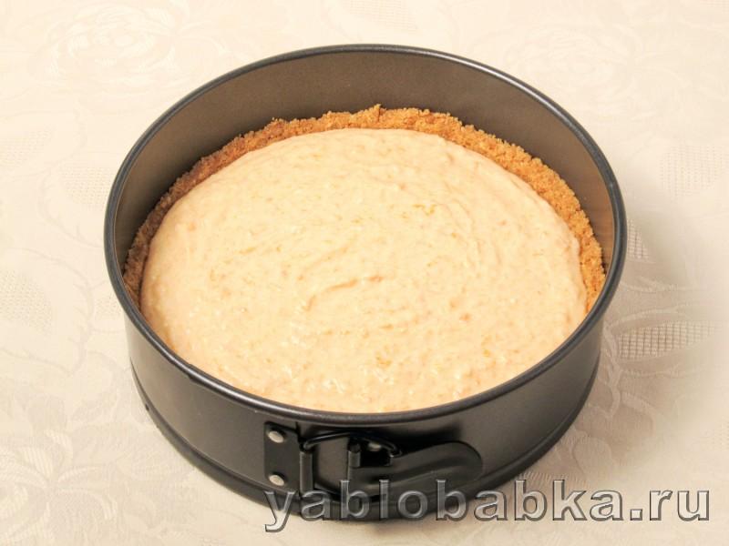 Тыквенный чизкейк рецепт с творогом и яблоками: фото 7