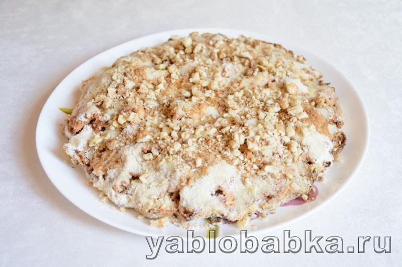 Венгерский яблочный пирог с манкой и орехами: фото 10