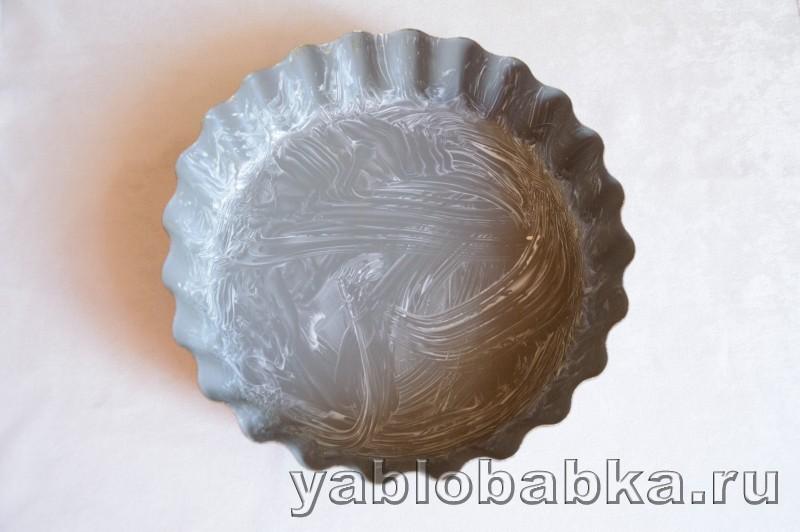 Венгерский яблочный пирог с манкой и орехами: фото 4