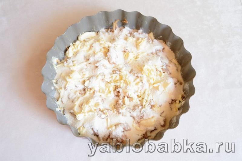Венгерский яблочный пирог с манкой и орехами: фото 8