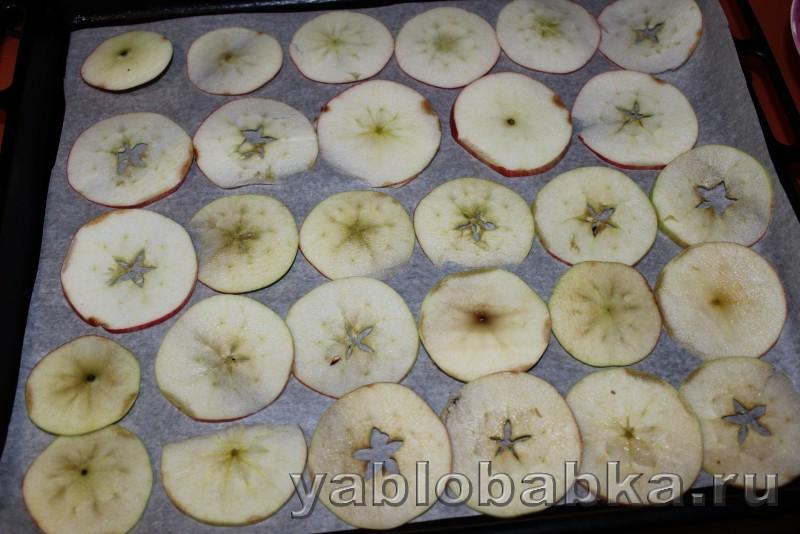 Яблочные чипсы в духовке: фото 4