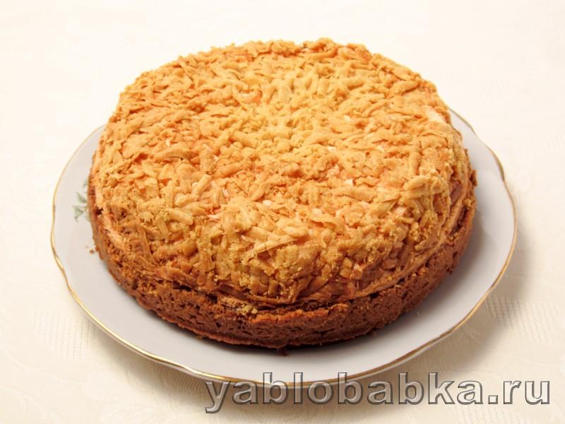 Яблочный пирог с безе в духовке из песочного теста: фото 10